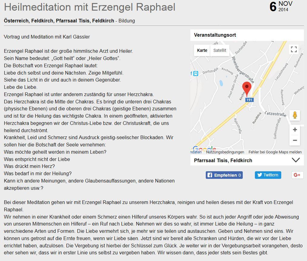 Heilung mit Erzengel Raphael
